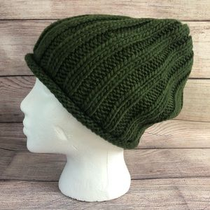 Free people Rory knit hat beanie green